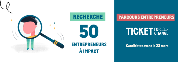 Parcours Entrepreneur Ticket for Change FACEBOOK TWITTERWanted